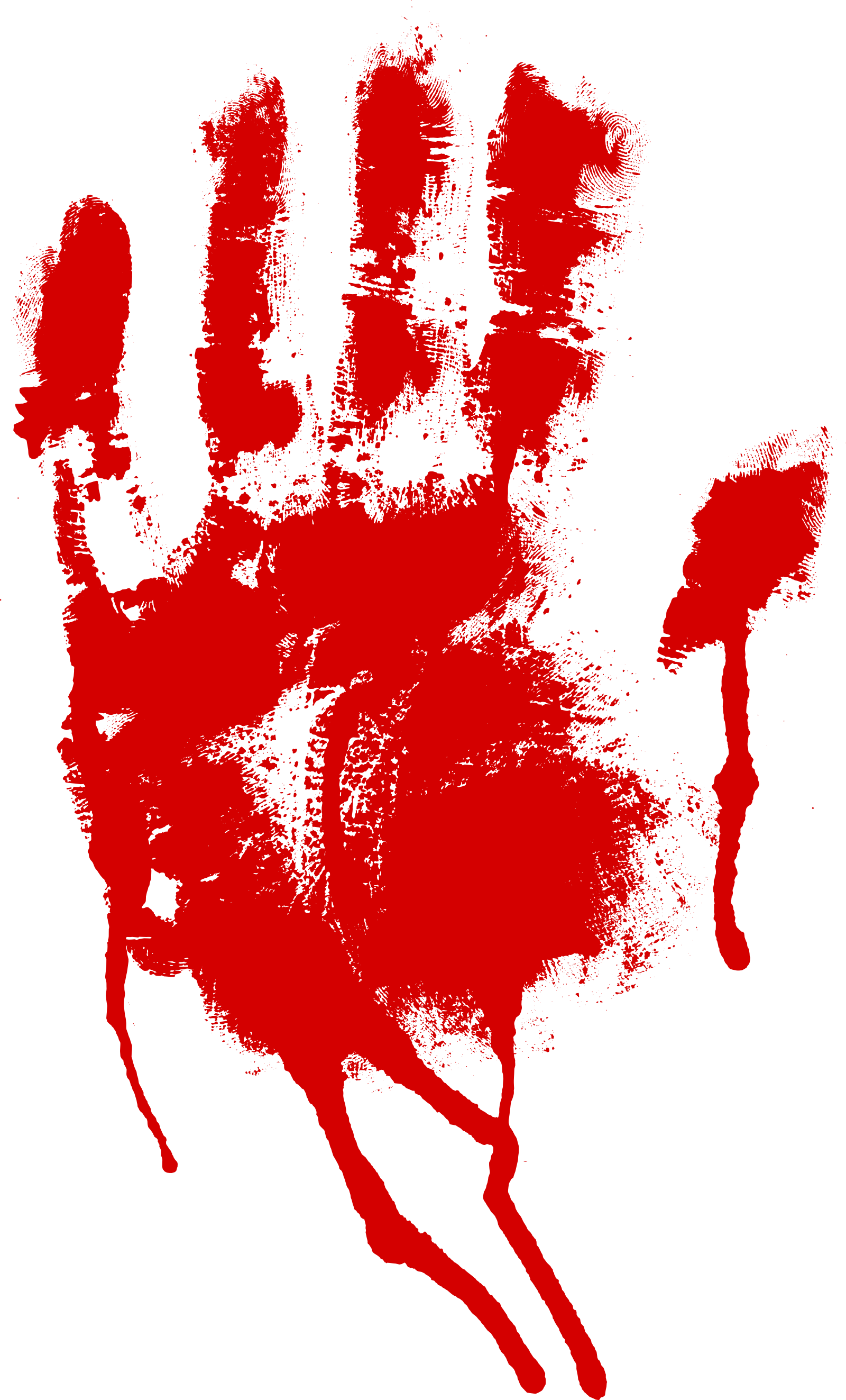5 Red Bloody Handprint (PNG Transparent)   OnlyGFX.com