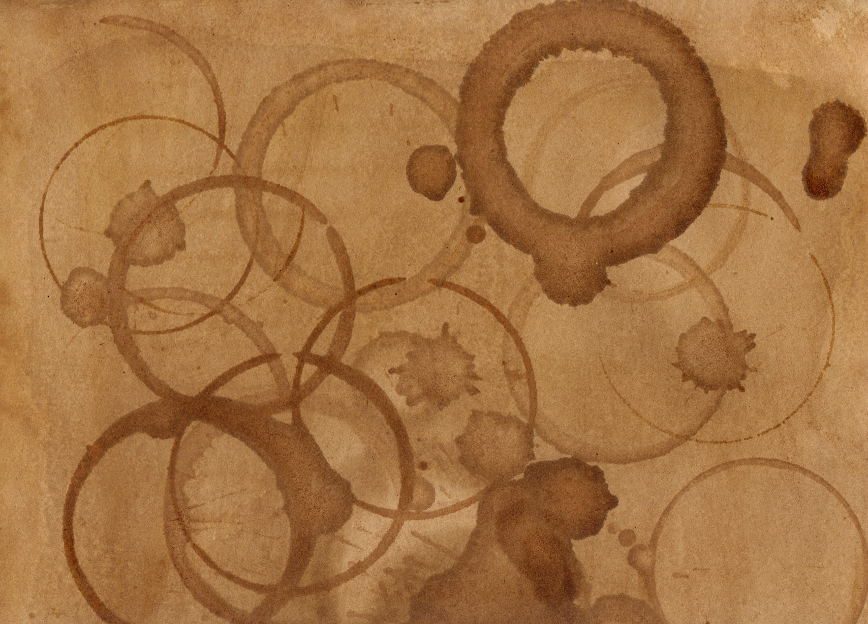 how to make coffee stain paper