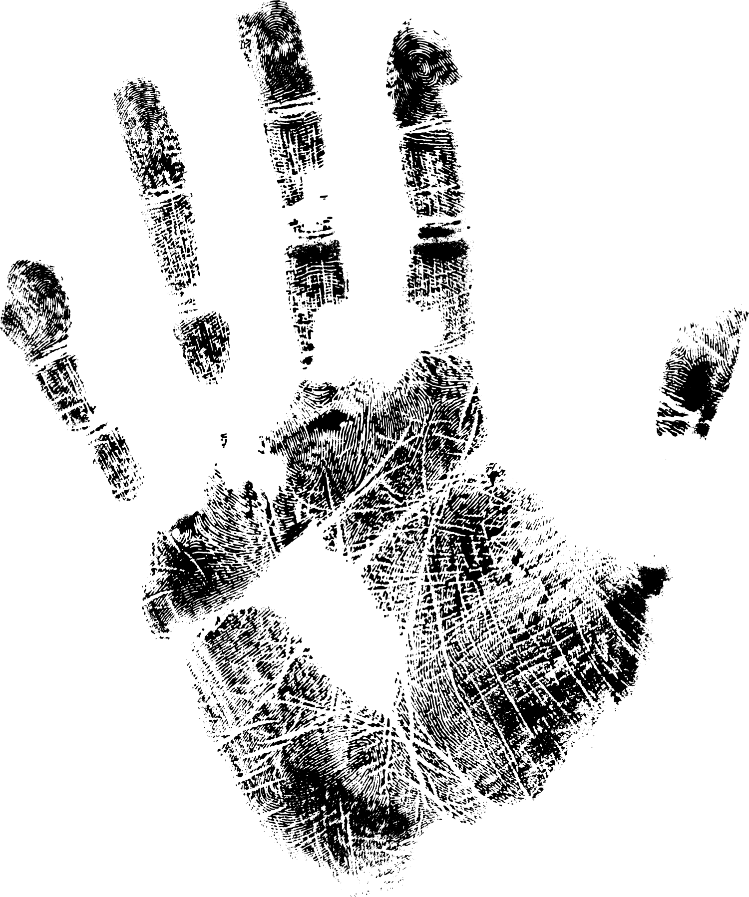 5 Black Handprints (PNG Transparent) | OnlyGFX com