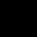 5 Black Handprints (PNG Transparent)