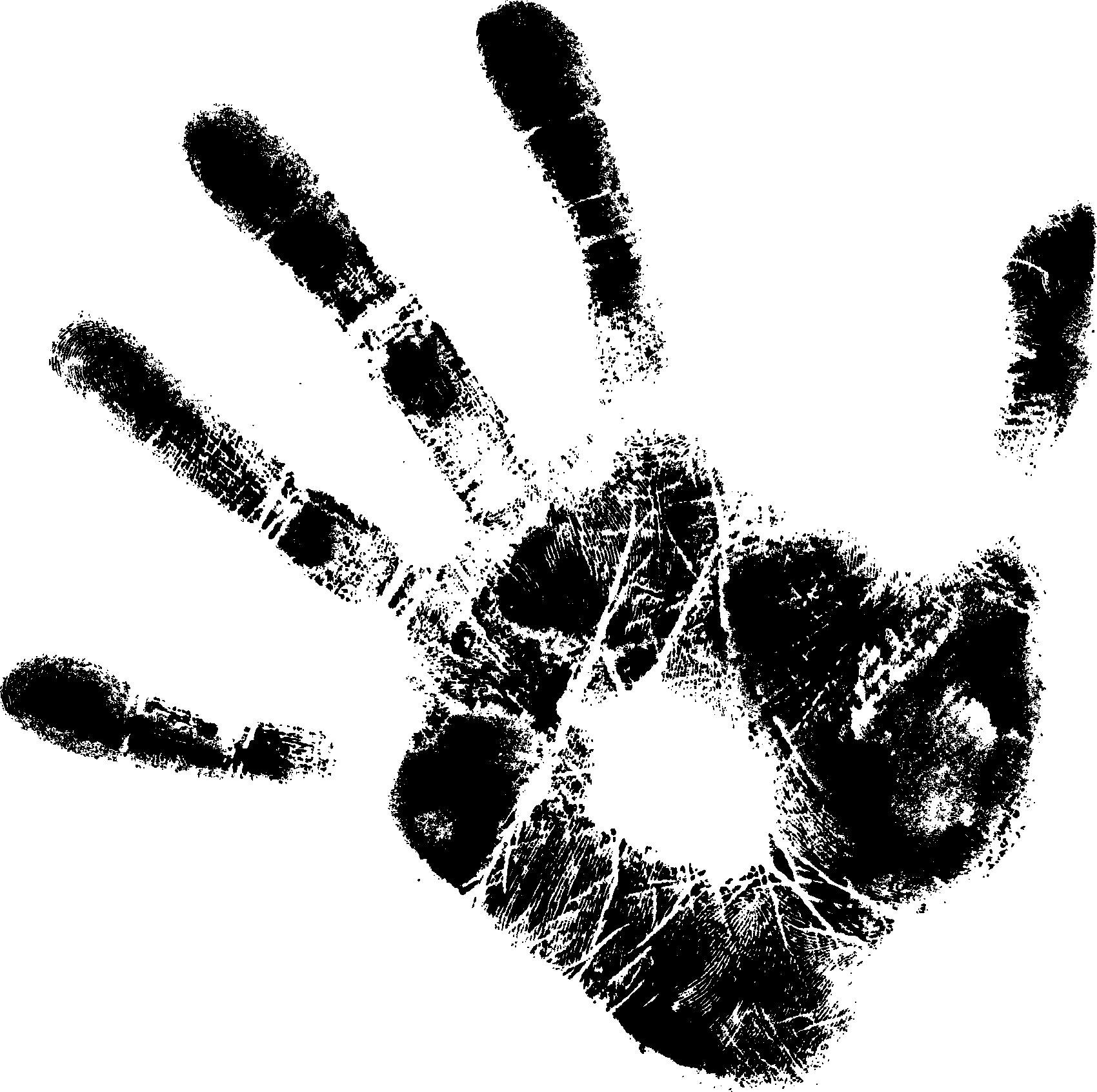 5 Black Handprints (PNG Transparent) | OnlyGFX.com