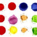 12 Watercolor Circle Drop, Splatter (PNG Transparent)