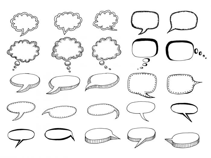 50 Hand Drawn Comic Speech Bubbles Vector (SVG, PNG Transparent