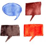 8 Watercolor Speech Bubbles (PNG Transparent)