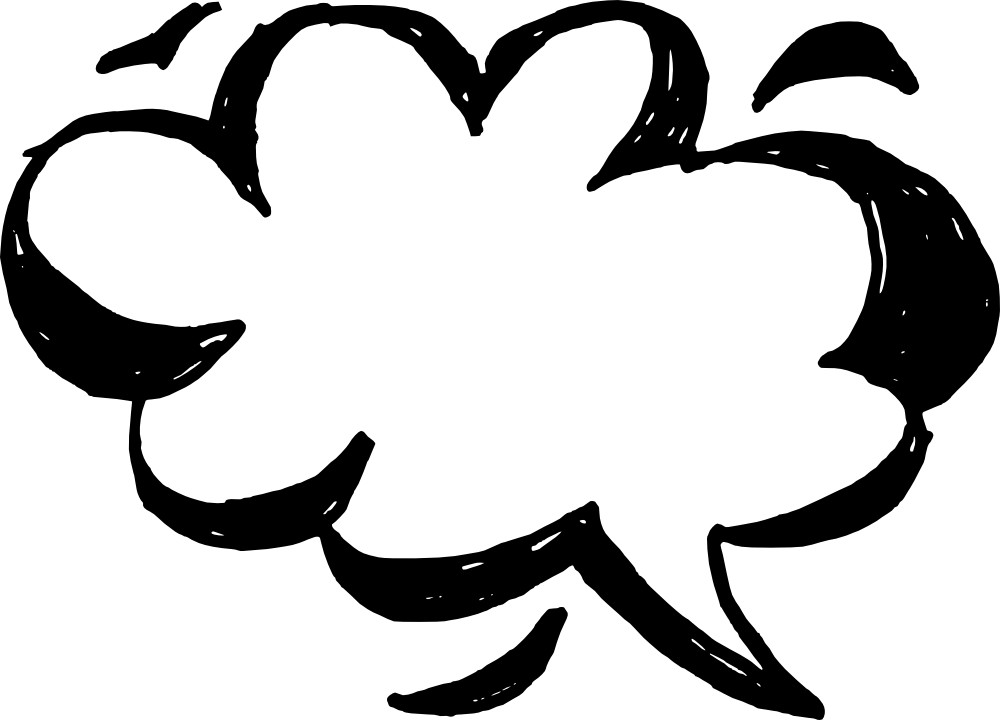 50 Hand Drawn Comic Speech Bubbles Vector (SVG, PNG ...