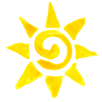 10 Watercolor Sun (PNG Transparent)