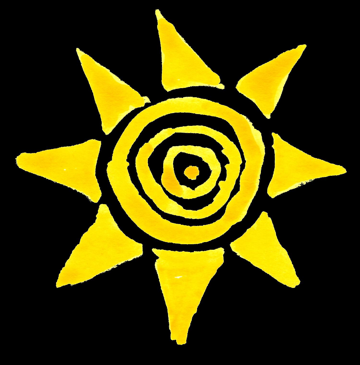 10 Watercolor Sun (PNG Transparent)   OnlyGFX.com