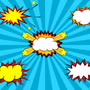 5 Comic Explosion Bubble (PNG Transparent, SVG Vector)