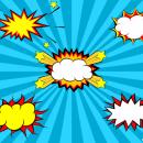 5 Comic Explosion Bubble (PNG Transparent, SVG Vector)