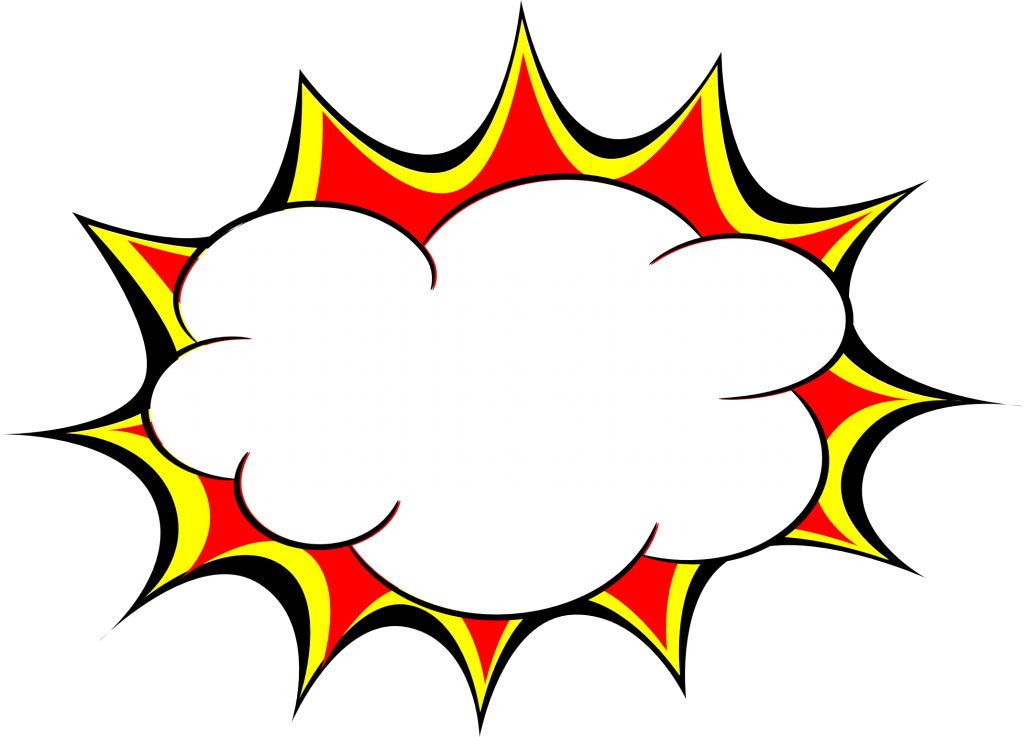 5 Comic Explosion Bubble (PNG Transparent, SVG Vector ...