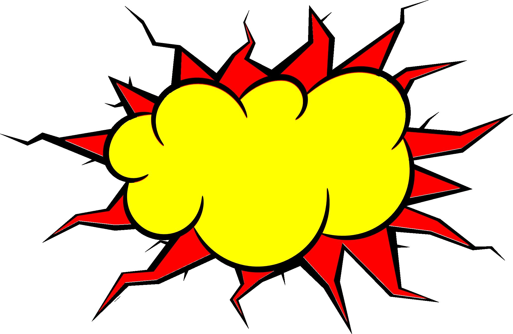 5 Comic Explosion Bubble (PNG Transparent, SVG Vector ...