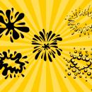 5 Comic Splash Bubbles (PNG Transparent, SVG Vector)