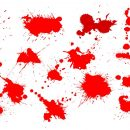 15 Red Paint Splatters (PNG Transparent)