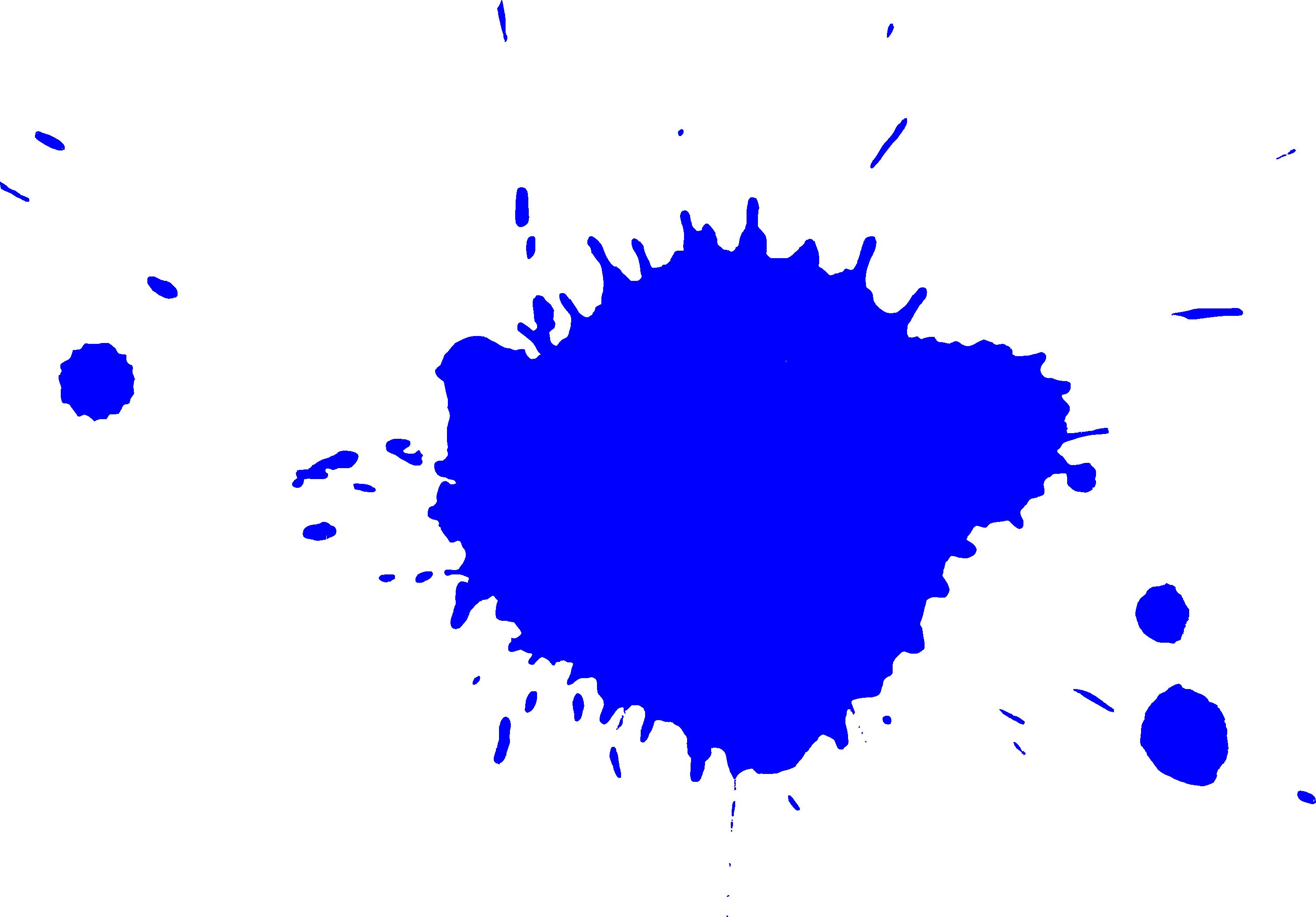 Free Blue Splatter 1 Png