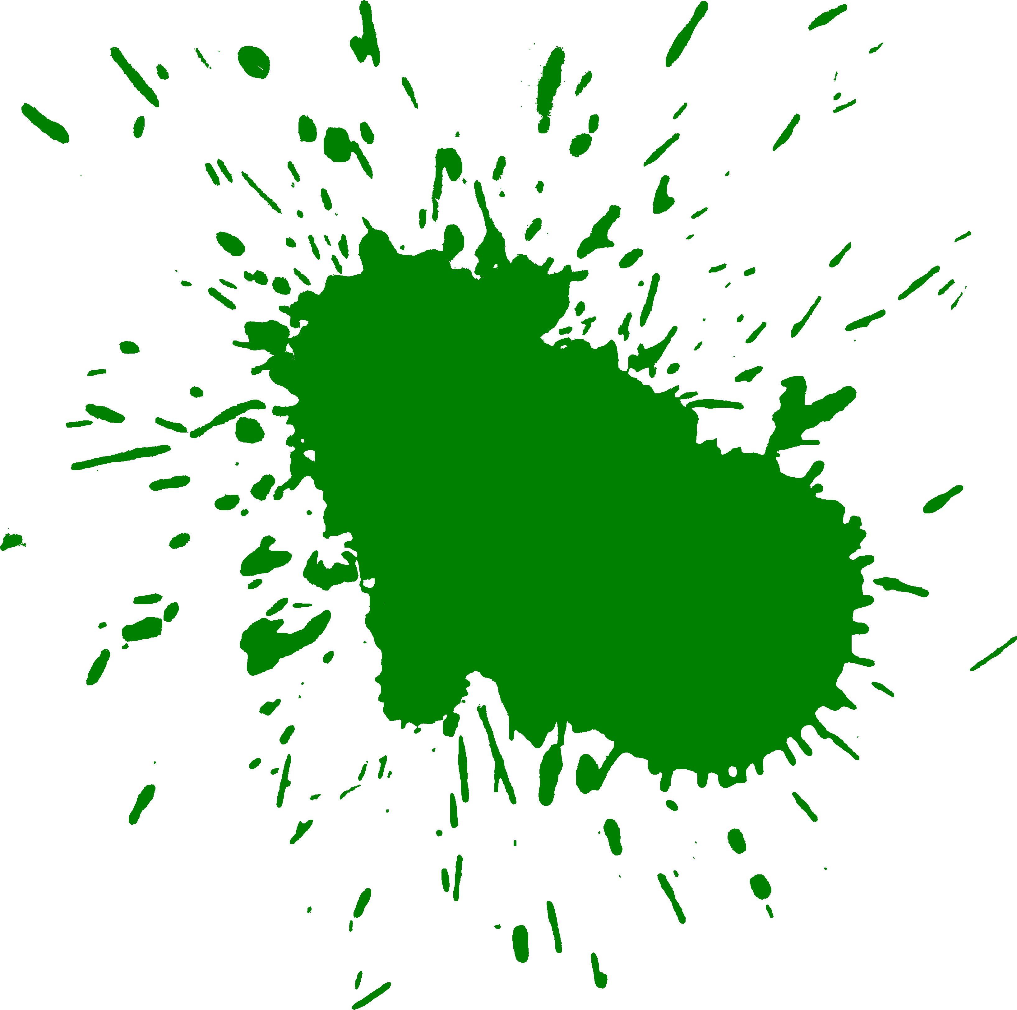 Green paint splash