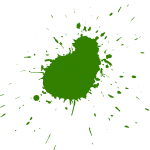 10 Green Paint Splatters (PNG Transparent)
