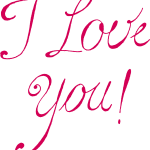 8 I Love You Texts (PNG Transparent)