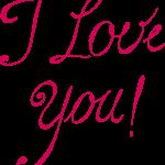 8 I Love You Texts (PNG Transparent)