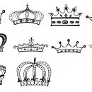 10 Black Crown (PNG Transparent)