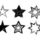 10 Grunge Stars (PNG Transparent)