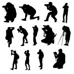 13 Photographer with Camera Silhouette (PNG Transparent)