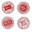 4 Best Seller Stamps (PNG Transparent)