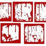 5 Blood Frames (PNG Transparent)