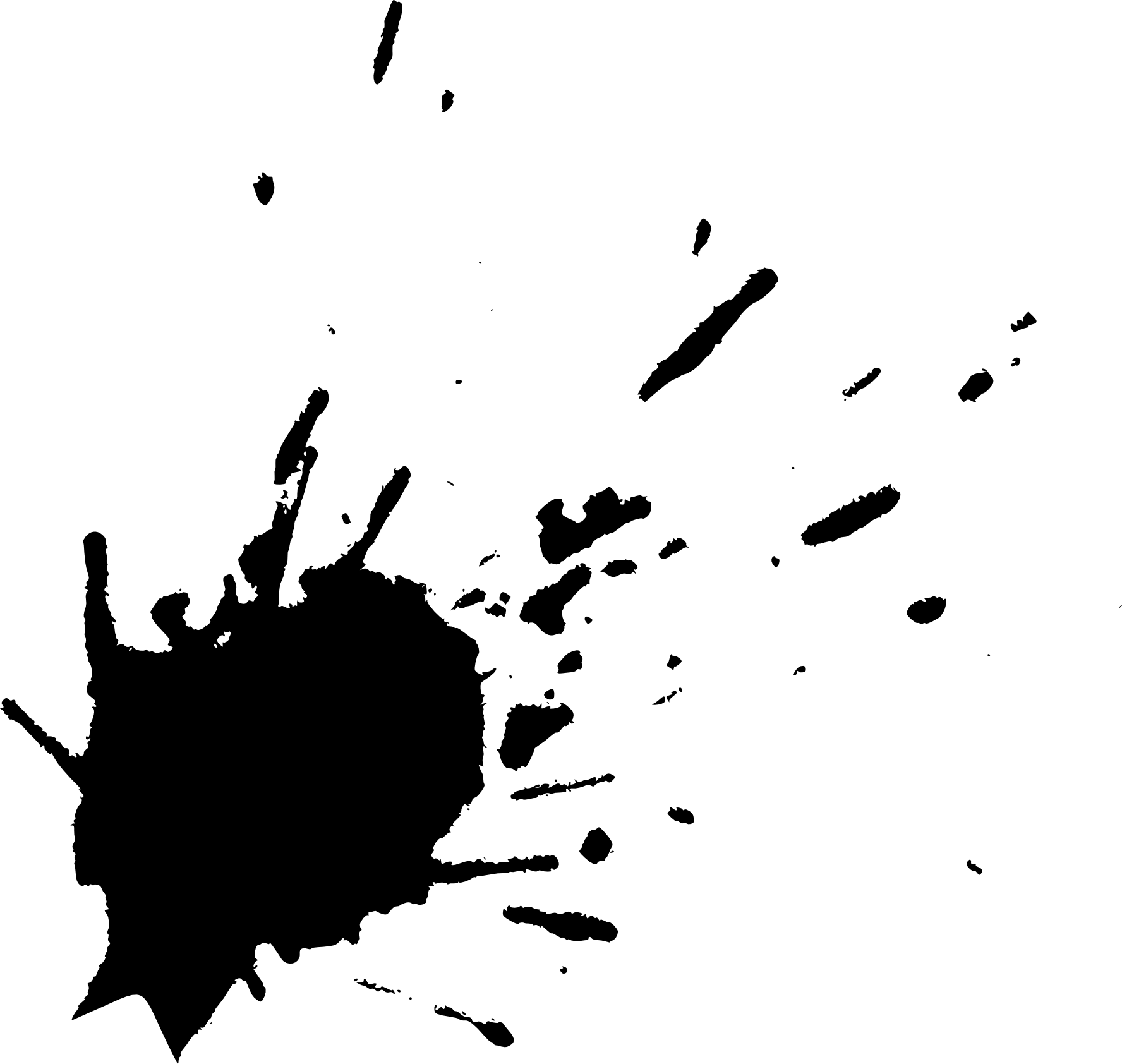 Black Paint Splatter Transparent | www.pixshark.com ...