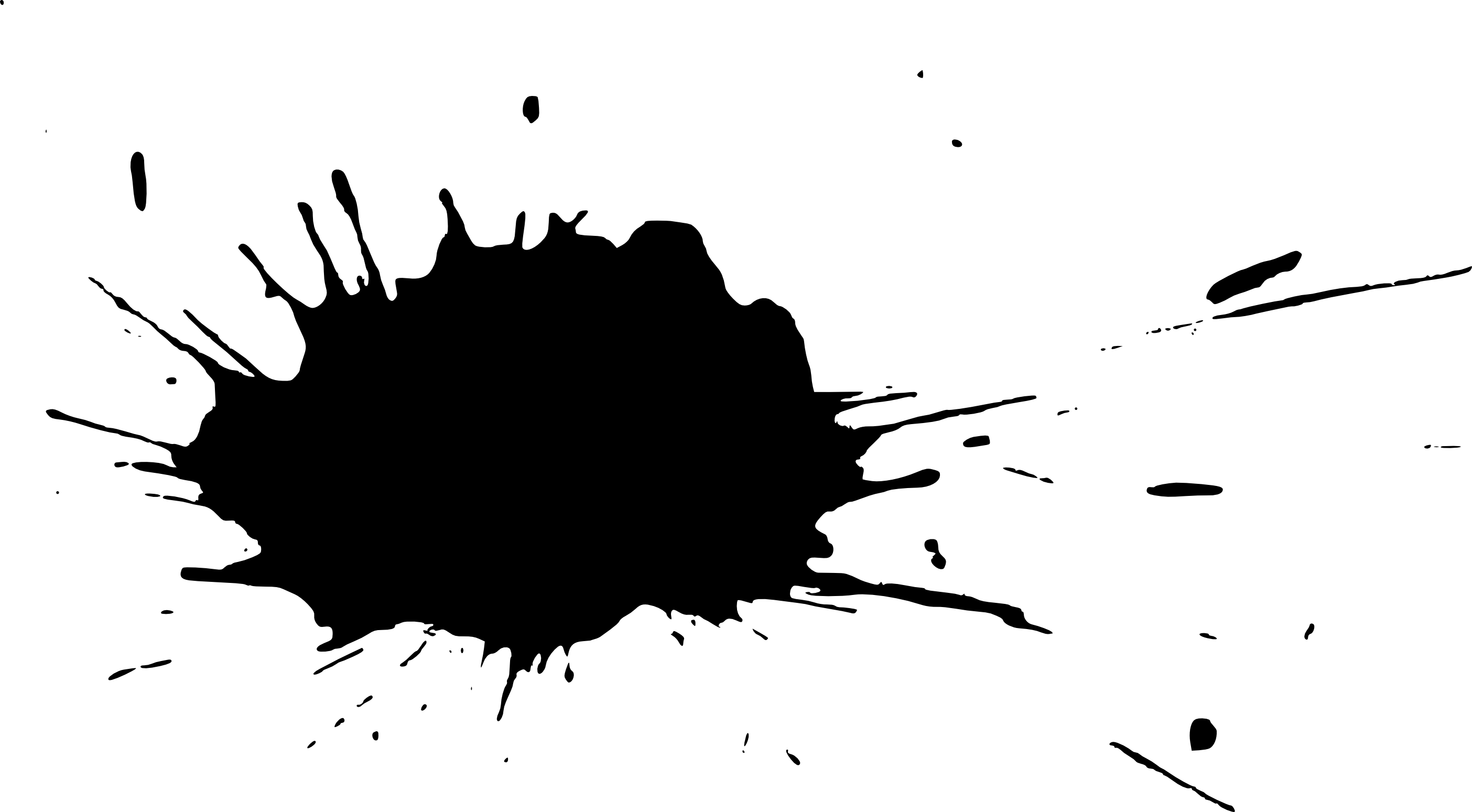 19 Black Paint Splatters (PNG Transparent) Vol. 2 ...