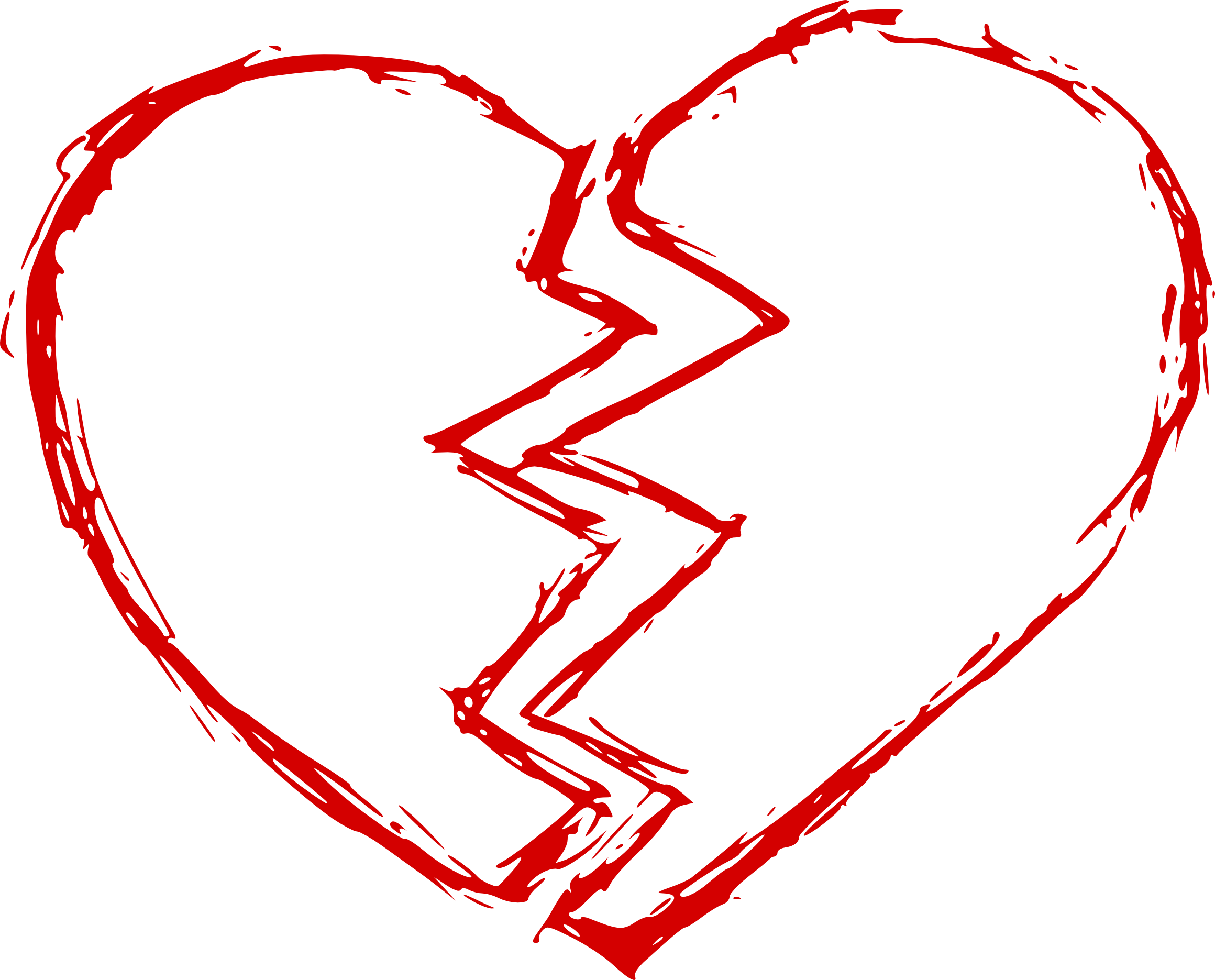 Heartbeat Png Transparent Black: Broken Heart (PNG Transparent)
