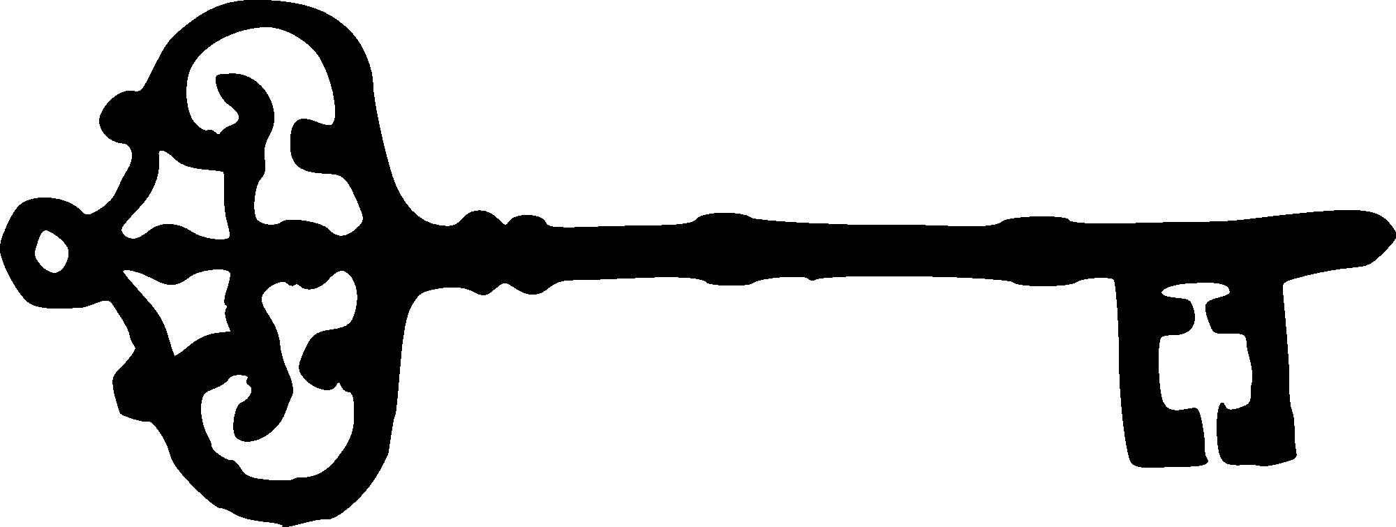 8 Skeleton Key Silhouettes (PNG Transparent)   OnlyGFX.com