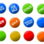 Shopping Special Offer Stickers Tags (PNG Transparent)