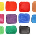 11 Watercolor Squares (PNG Transparent)