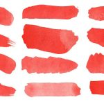 12 Red Watercolor Brush Stroke Banner (PNG Transparent)