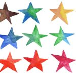 15 Watercolor Star (PNG Transparent)