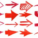 16 Red Watercolor Arrow (PNG Transparent)