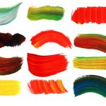 20 Paint Brush Strokes (PNG Transparent)