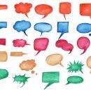 25 Watercolor Speech Bubbles (PNG Transparent) Vol. 2