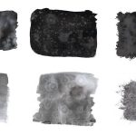 6 Black Watercolor Texture (JPG) Vol. 3
