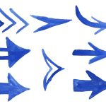 8 Blue Watercolor Arrow (PNG Transparent)