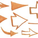 8 Brown Watercolor Arrow (PNG Transparent)