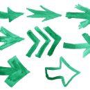 8 Green Watercolor Arrow (PNG Transparent)