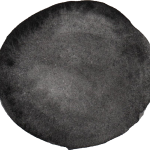 10 Black Watercolor Circle (PNG Transparent)