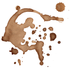 16 Coffee Stains Splatter (PNG Transparent) Vol. 2
