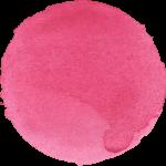 10 Watercolor Pink Circle (PNG Transparent)