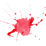 6 Red Watercolor Splatter (PNG Transparent)