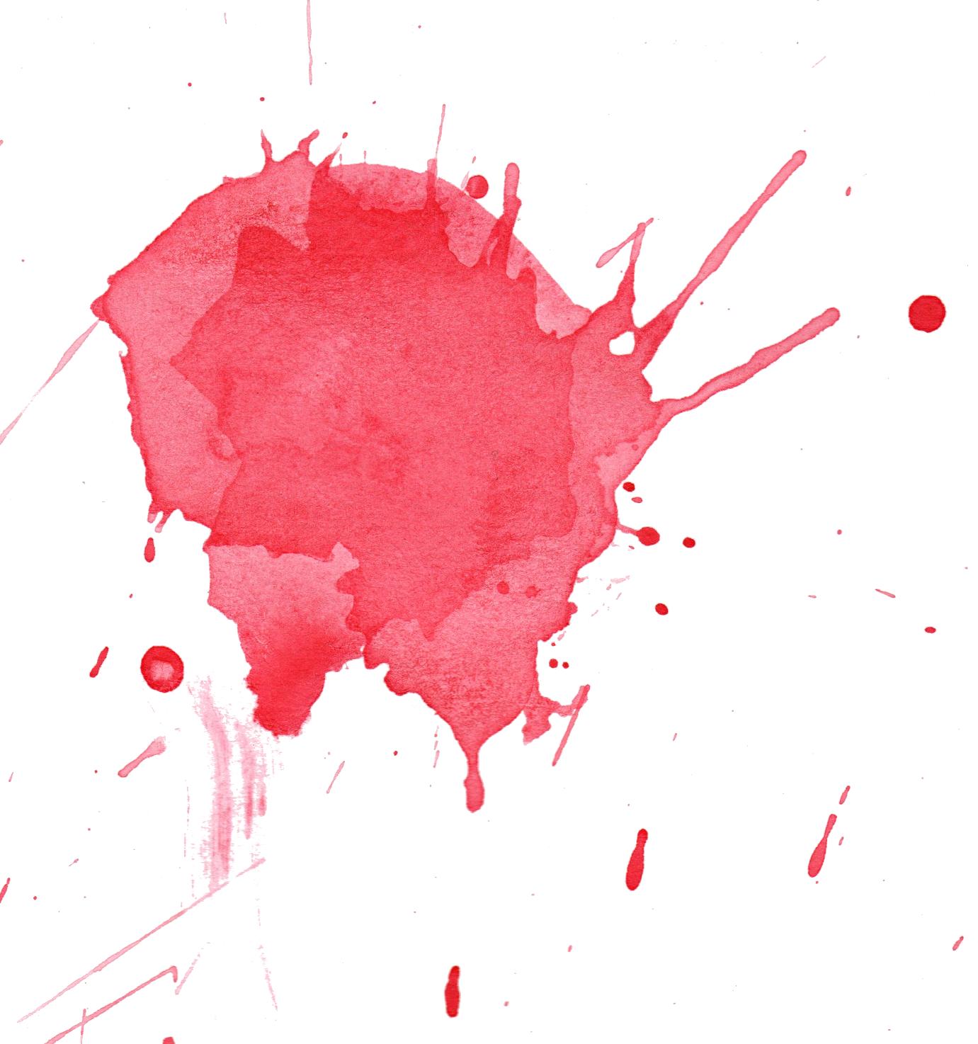 6 Red Watercolor Splatter (PNG Transparent) | OnlyGFX.com