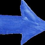 8 Blue Watercolor Arrow (PNG Transparent)