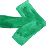 8 Green Watercolor Arrow (PNG Transparent)