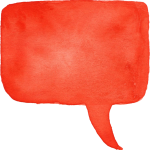 25 Watercolor Speech Bubbles (PNG Transparent) Vol. 2